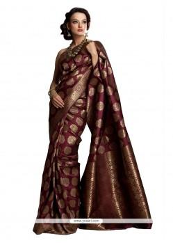 Superlative Weaving Work Art Silk Classic Saree