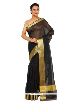 Intriguing Art Silk Black Trendy Saree