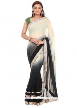 Miraculous Georgette Black Traditional Saree