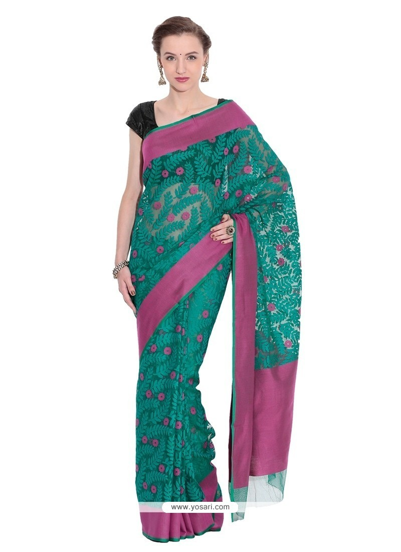 Conspicuous Weaving Work Net Traditional Saree