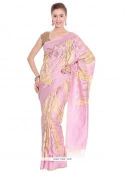 Staggering Net Pink Classic Saree