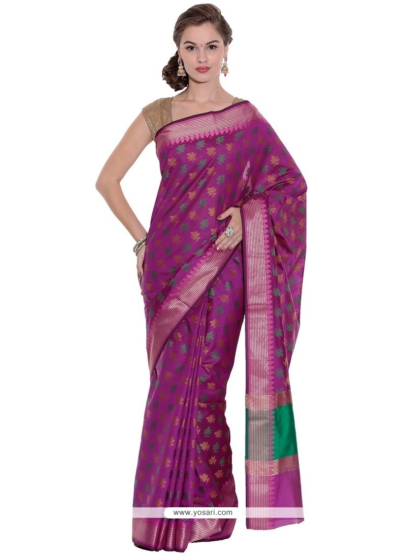 Lively Art Silk Weaving Work Traditional Saree