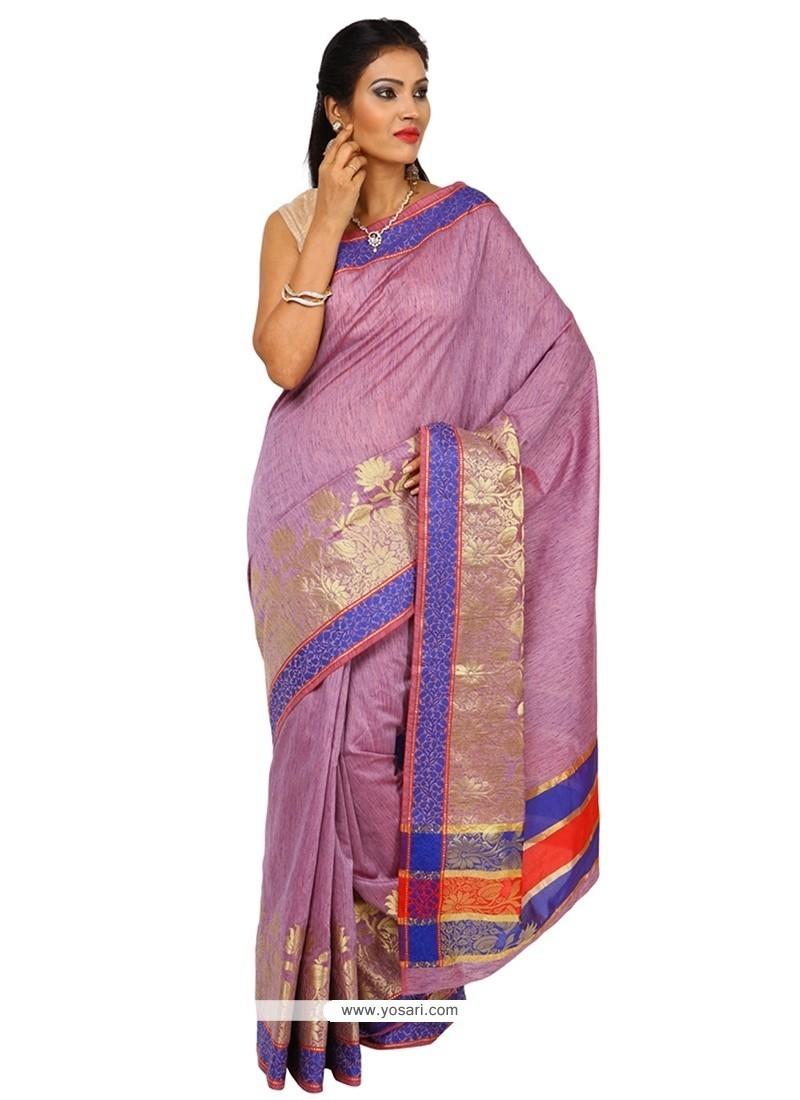 Elite Tissue Lavender Classic Saree