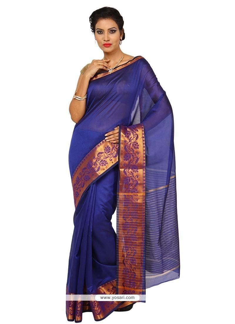 Riveting Art Silk Blue Designer Traditional Sarees