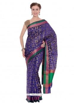 Aspiring Purple Weaving Work Cotton Classic Designer Saree