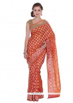 Captivating Art Silk Weaving Work Classic Designer Saree