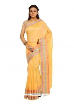 Perfervid Weaving Work Cotton Classic Designer Saree