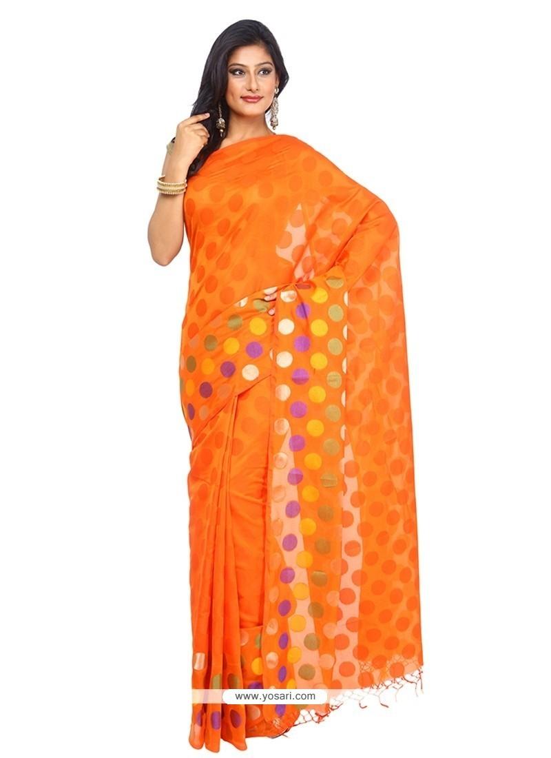 Staggering Orange Trendy Saree
