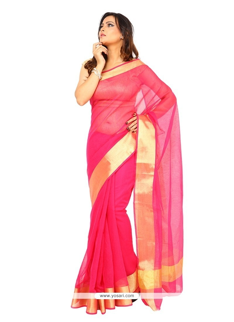 Sophisticated Hot Pink Classic Saree