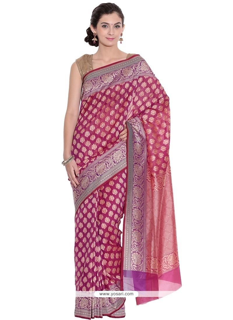 Tantalizing Art Silk Weaving Work Classic Saree