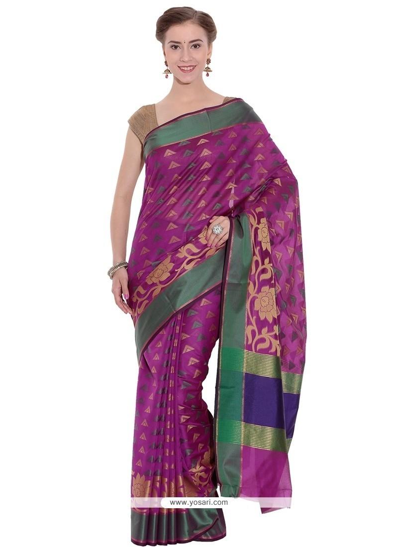 Ravishing Art Silk Weaving Work Traditional Saree