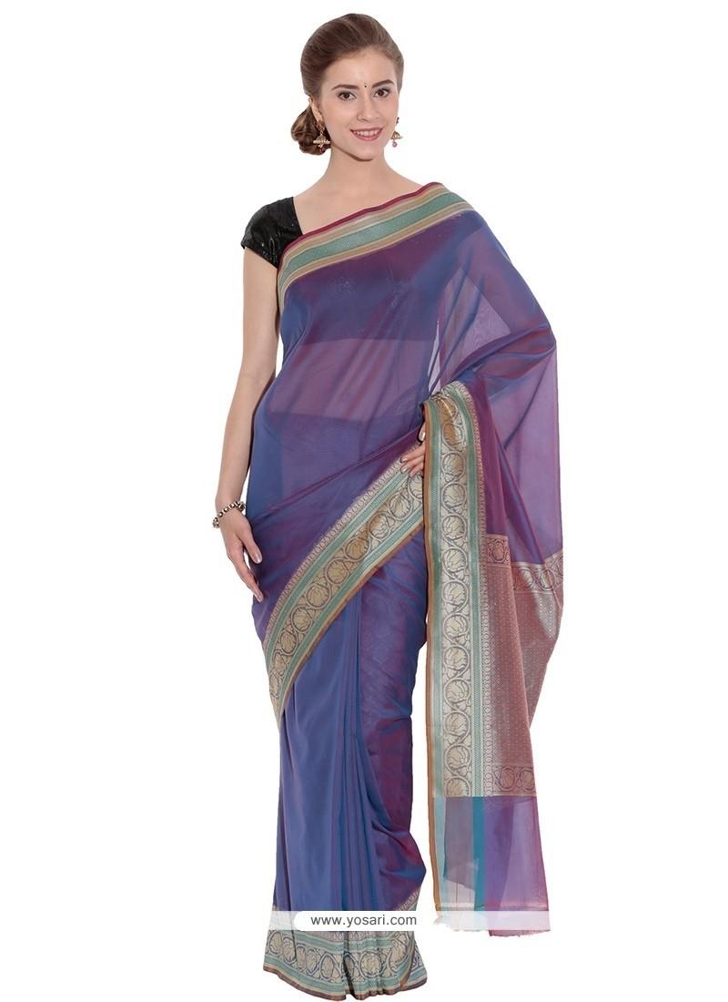 Delectable Weaving Work Art Silk Classic Saree