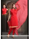 Brilliant Red Readymade Suit