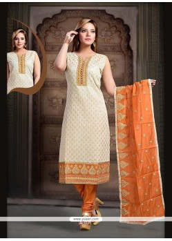 Paramount Art Silk Lace Work Readymade Suit