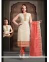 Flawless Peach Art Silk Readymade Suit