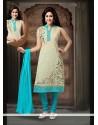 Customary Art Silk Blue Readymade Suit