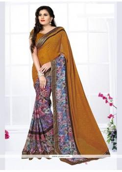 Superb Georgette Multi Colour Printed Saree