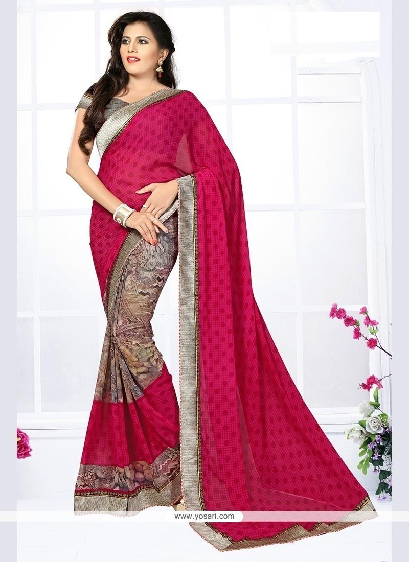 Majestic Print Work Multi Colour Printed Saree