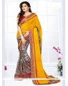 Savory Georgette Multi Colour Printed Saree