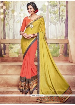 Adorable Patch Border Work Traditional Saree