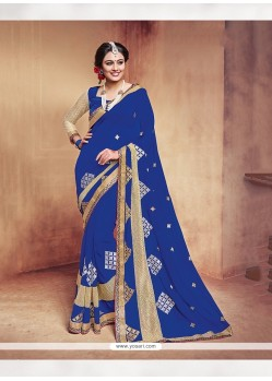 Sterling Embroidered Work Traditional Saree