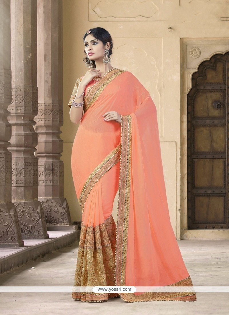 Mesmerizing Embroidered Work Designer Traditional Sarees