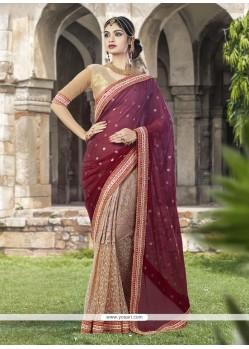 Observable Beige Classic Designer Saree