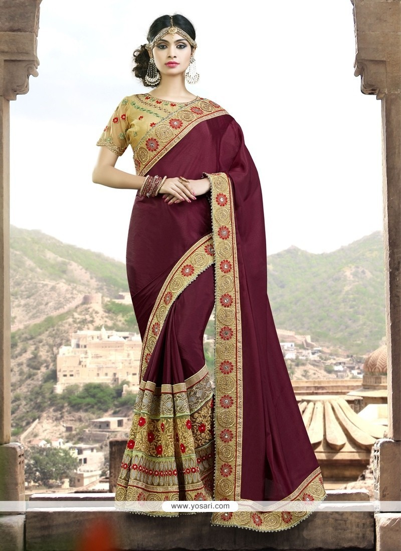 Majestic Chiffon Satin Traditional Designer Sarees