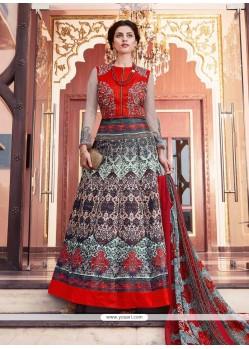 Sophisticated Print Work Anarkali Salwar Kameez