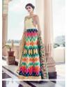 Picturesque Multi Colour Banglori Silk Anarkali Salwar Kameez