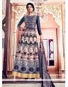 Multi Colour Banglori Silk Anarkali Salwar Kameez