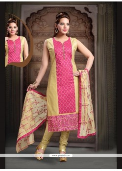 Charismatic Art Silk Pink Readymade Suit