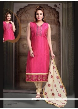 Trendy Embroidered Work Art Silk Readymade Suit