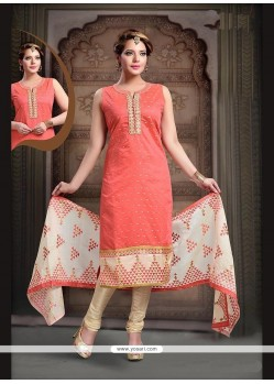 Fetching Embroidered Work Art Silk Readymade Suit