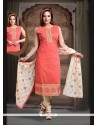 Tantalizing Art Silk Embroidered Work Readymade Suit