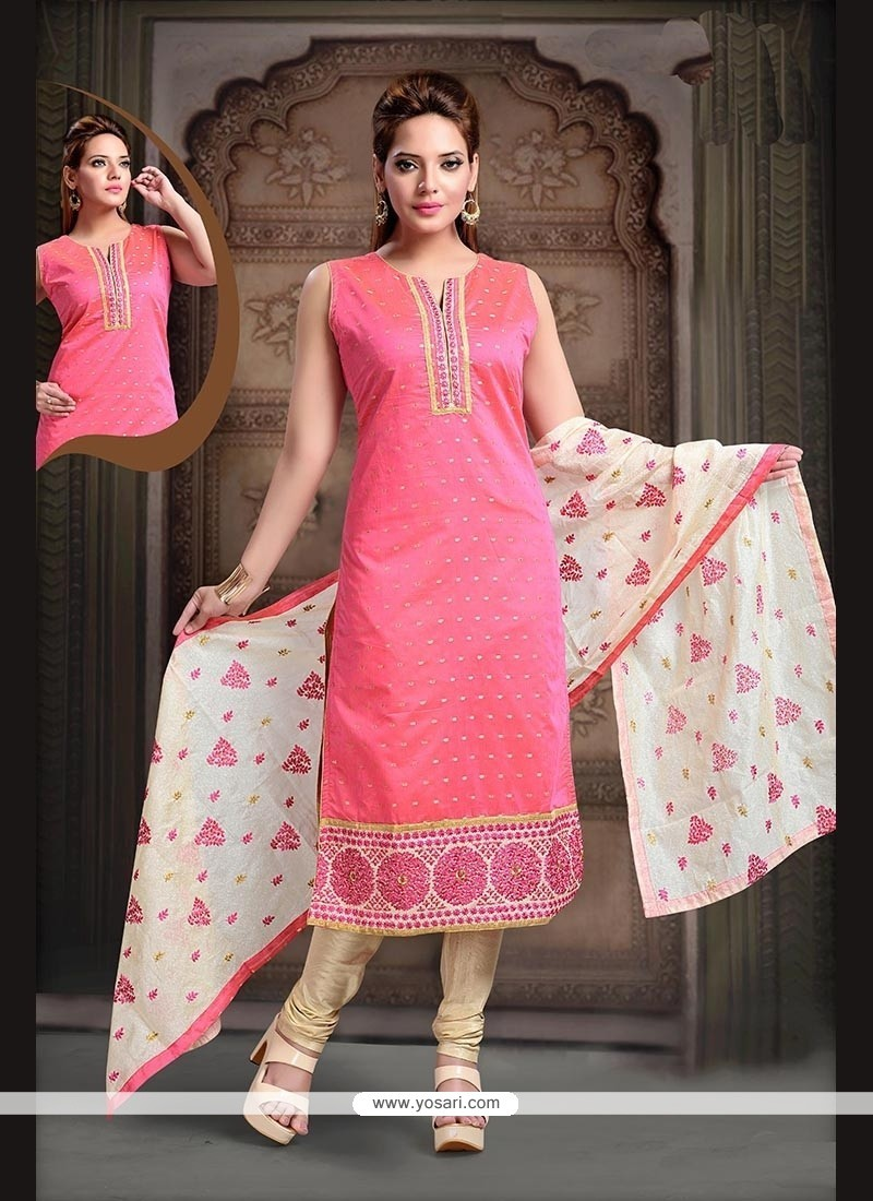 Integral Embroidered Work Readymade Suit