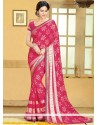 Magnificent Red Brasso Saree