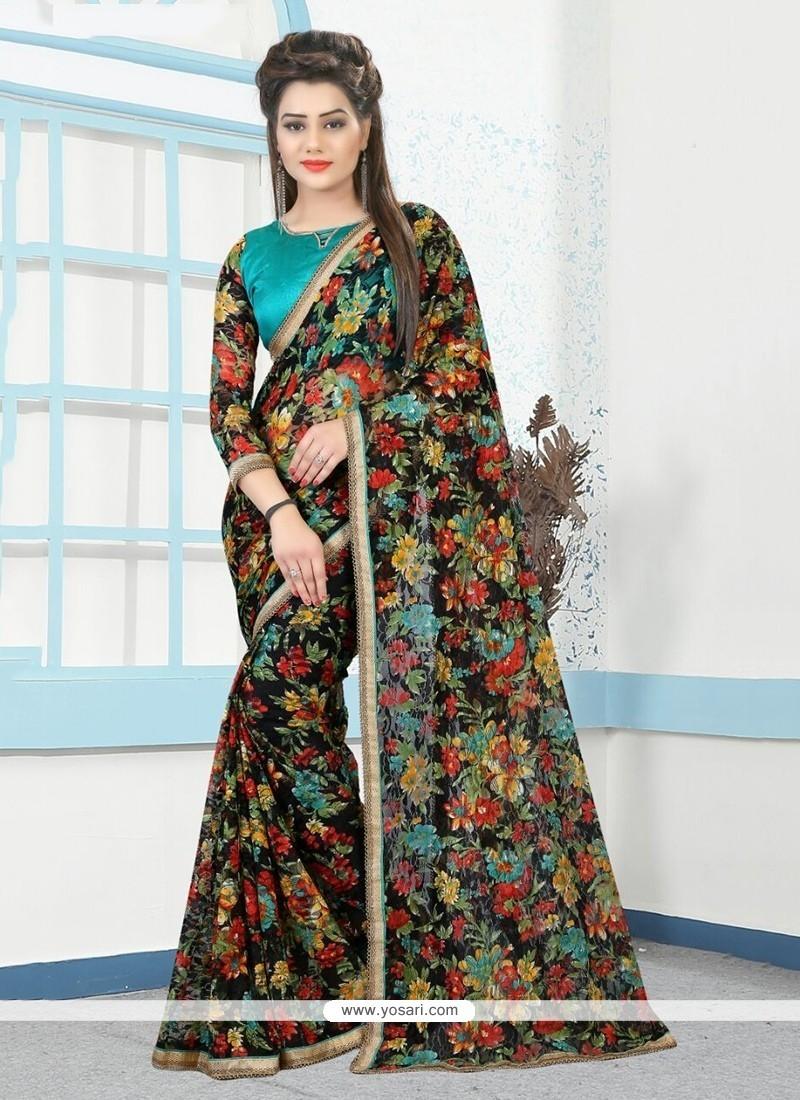 Chic Net Printed Saree