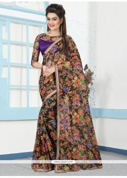 Brilliant Net Printed Saree
