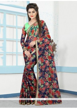Beauteous Multi Colour Print Work Printed Saree