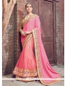 Astounding Embroidered Work Lehenga Saree