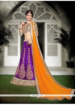 Aesthetic Purple Net A Line Lehenga Choli