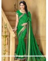 Magnificent Green Art Silk Saree