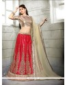 Energetic Embroidered Work A Line Lehenga Choli
