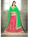 Heavenly Net Rose Pink A Line Lehenga Choli