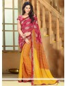 Multicolored Faux Chiffon Casual Saree