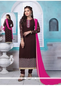 Delightful Georgette Churidar Designer Suit