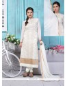 Cute Lace Work Churidar Designer Suit
