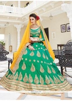 Competent Embroidered Work A Line Lehenga Choli