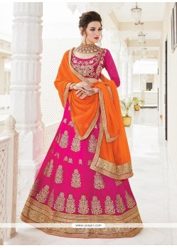 Flamboyant Patch Border Work A Line Lehenga Choli